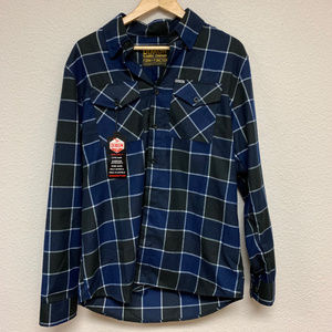 DIXXON Flannel - Button - Blue/Black/White